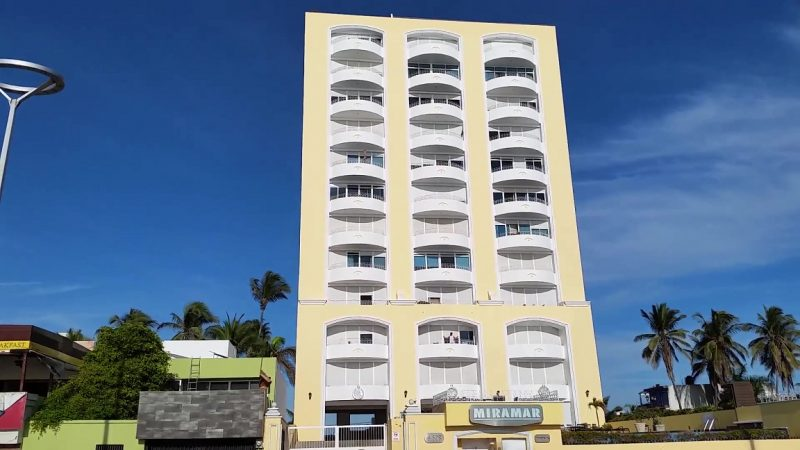 The Miramar Condominium on the oceanfront in Mazatlan.